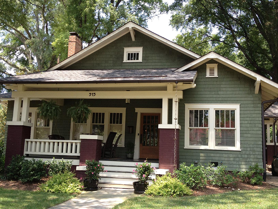 bungalow style residence ca 1926 original wooden double hung windows. Black Bedroom Furniture Sets. Home Design Ideas