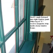 magnetic strip storm window frame