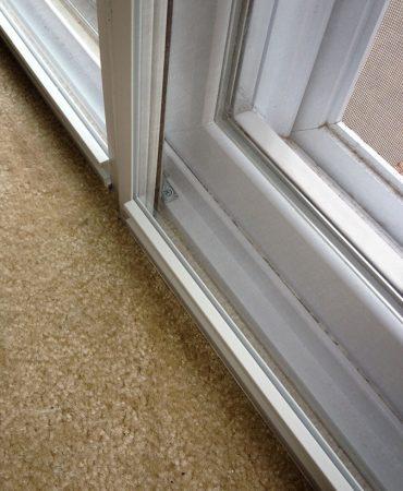 sliding door close up