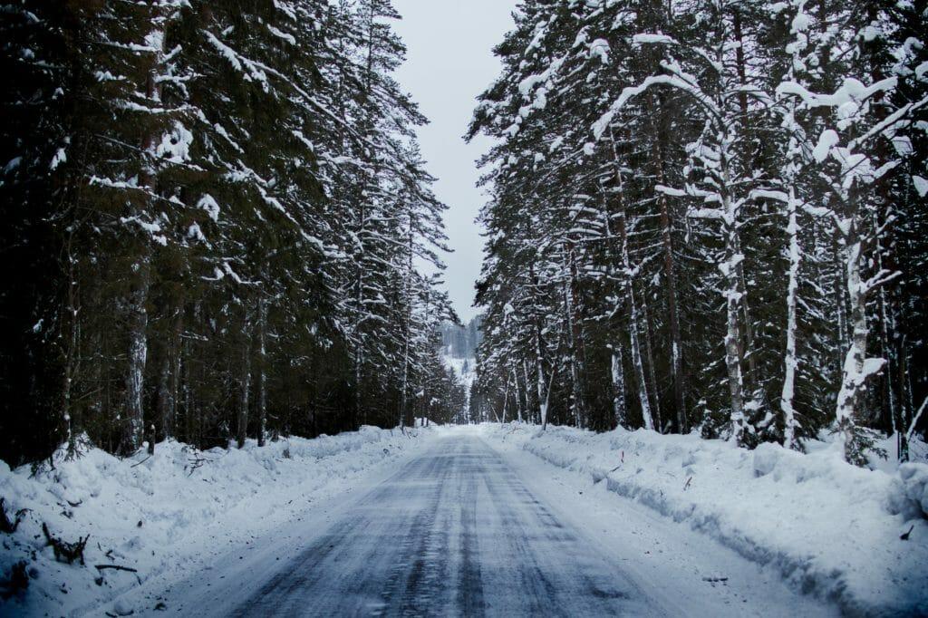 Winter road in Minnesota